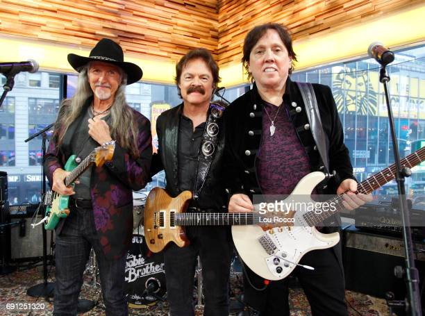 AMERICA The Doobie Brothers and Earth Wind Fire perform live on Good Morning America Thursday June 1 2017 on the Walt Disney Television via Getty...