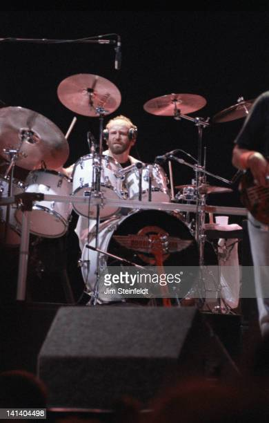 The Doobie Brothers drummer Michael Hossack performs on the 'Cycles' tour at the Met Center in Bloomington Minnesota on June 14 1989