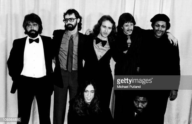 The Doobie Brothers group portrait at the 1980 Grammy Awards, New York, February 1980, L-R Michael McDonald, Chet McCracken, Keith Knudsen, Patrick...