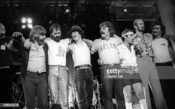 The Doobie Brothers perform at the Greek Theater in Berkeley, California on September 11, 1982.