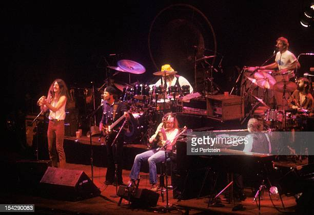 The Doobie Brothers perform live at the Oakland Coliseum on December 30, 1978 in Oakland, California.