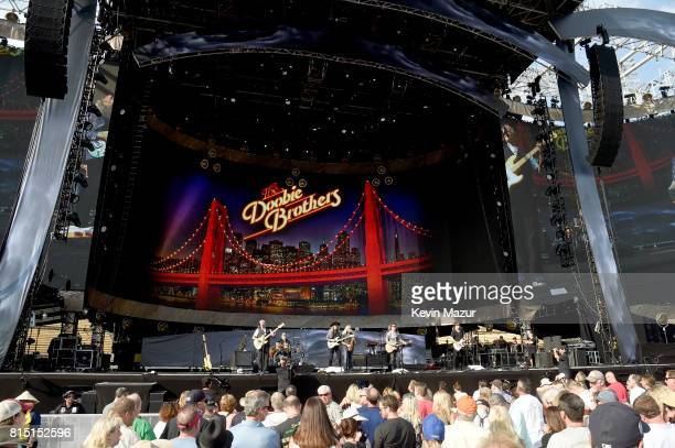 The Doobie Brothers perform onstage during The Classic West at Dodger Stadium on July 15 2017 in Los Angeles California