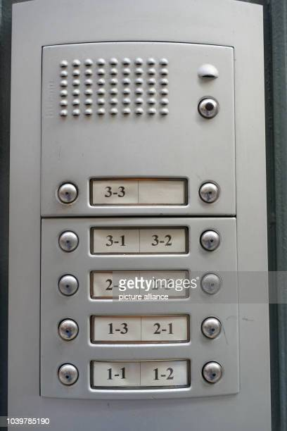 The door bells with the intercom system are only marked with numbers not names photographed in Palma de Mallroca Spain 6 April 2017 Photo Alexandra...