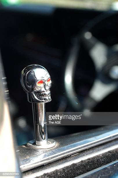 The door lock of Brian Scicluna's 1970 Ford XW Fairmont 24 February 2005 THE AGE Picture by DREW RYAN