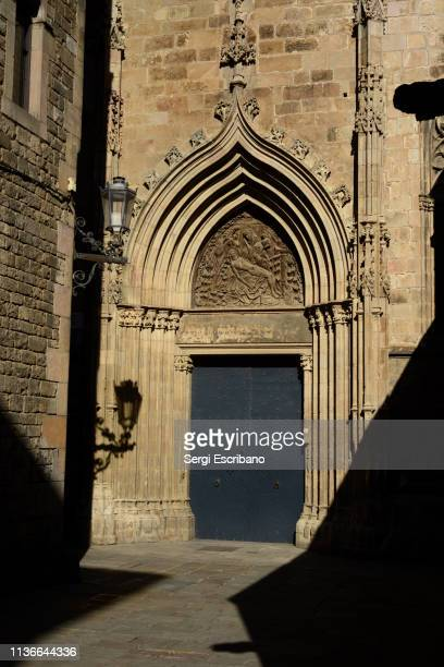The Door of mercy of Barcelona's cathedral march 30, 2017. Catalonia-Spain