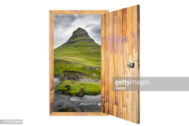 the door opening to iceland - george wood stock pictures, royalty-free photos & images