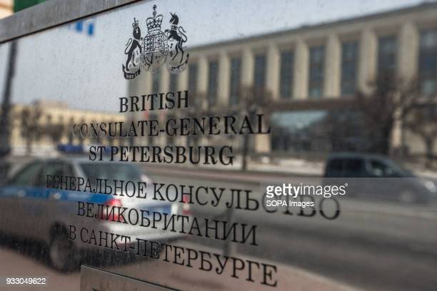 The door sign of the British consulategeneral in St Petersburg The Russian Foreign Ministry announced measures 'in response to the British side's...