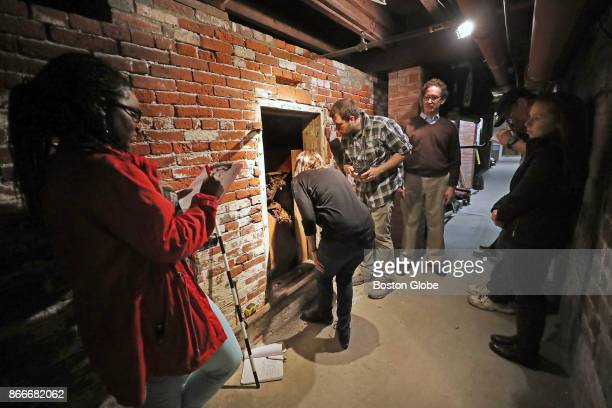 The door to a 200yearold tomb beneath the Old North Church in Boston is opened on Oct 24 2017 After being closed for more than a century the tomb was...