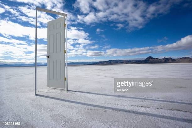 the door to nowhere - doorway stock pictures, royalty-free photos & images