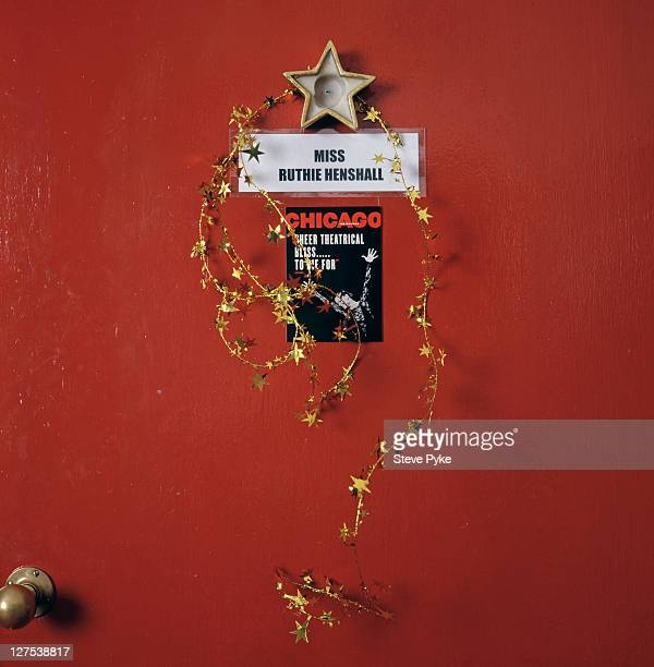 The door to the dressing room of English singer dancer and stage actress Ruthie Henshall at the Adelphi Theatre in London 7th August 1998 She is...