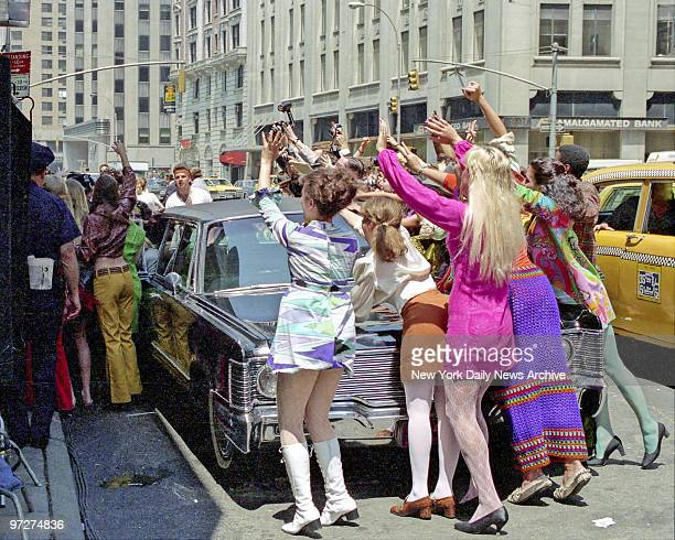 The Doors movie being filmed in New York shows how the groupies surrounded the limousine arriving at the Ed Sullivan Theater