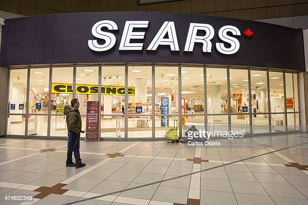 TORONTO ON FEBRUARY 23 The doors of the Sears at Eaton Centre are seen closed for the last time Photographs showing the Sears store located at the...
