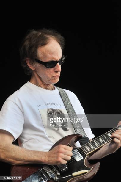 The Doors, Robby Krieger with Jim Morrison T-shirt, Suikerrock Festival, Tienen, Belgium, 20th July 2010.