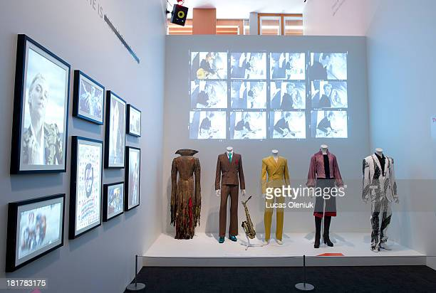 The doors to the 'David Bowie' exhibition opened to the media Tuesday morning On display were a number of photographs costumes and installations that...