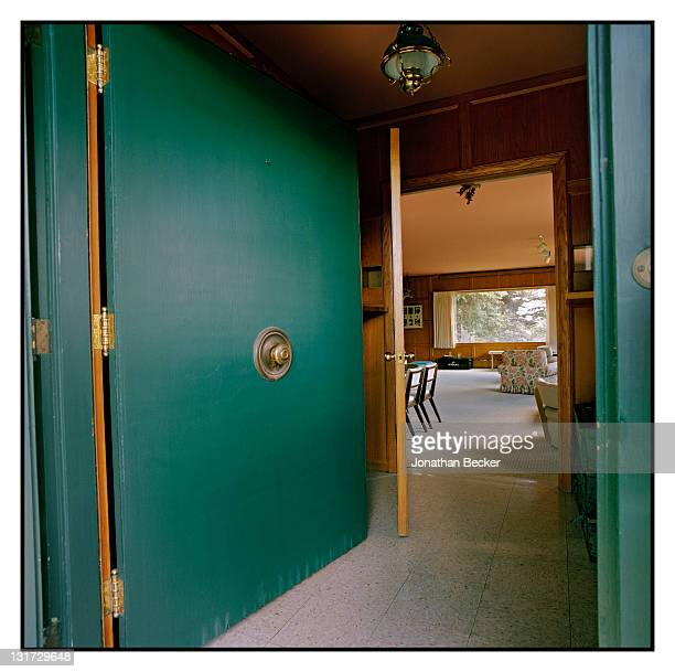 The doorway into writer Ernest Hemingway's home is photographed for Town & Country Magazine on June 30, 2011 in Ketchum, Idaho. The property is owned...