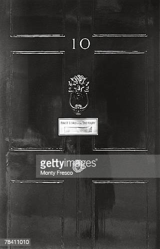The doorway of Number 10 Downing Street in London official residence of the First Lord of the Treasury 21st December 1954