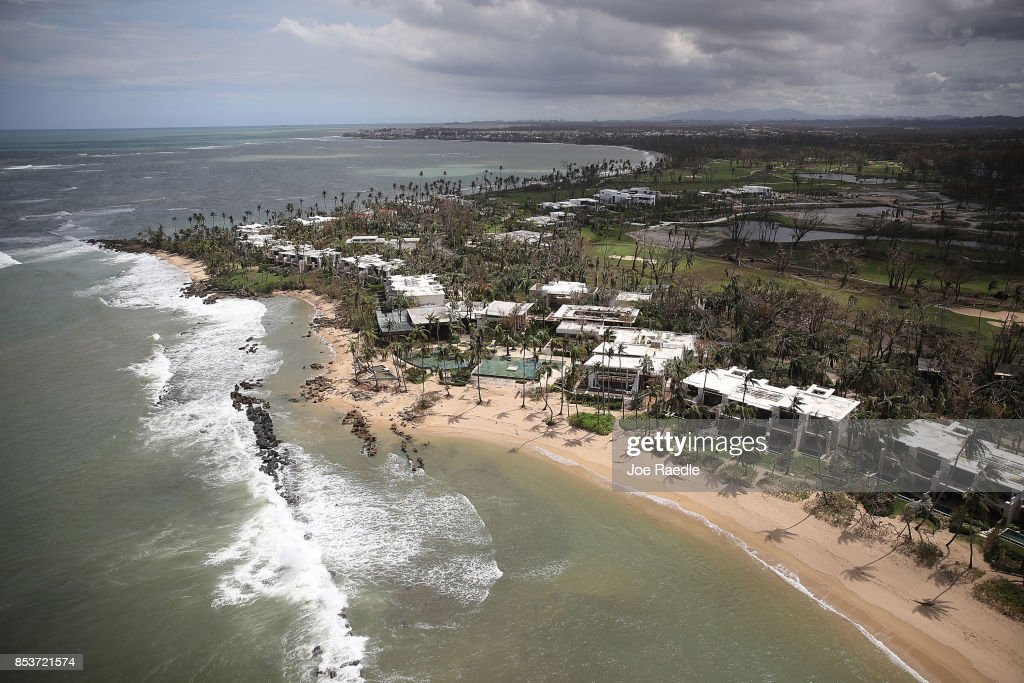 The Dorado Beach, a Ritz-Carlton Reserve is seen as people deal with the aftermath of Hurricane Maria on September 25, 2017 in Dorado, Puerto Rico. Maria left widespread damage across Puerto Rico, with virtually the whole island without power or cell service.