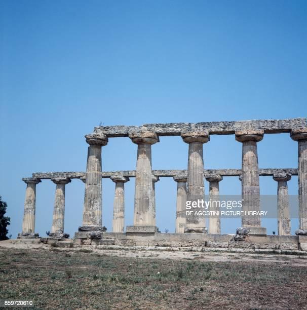 The Doric temple of Hera or Tavole Palatine in the archaeological area of Metaponto Bernalda Basilicata Italy 6th century BC