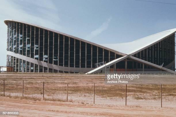 The Dorton Arena on the grounds of the North Carolina State Fair Raleigh North Carolina USA circa 1960