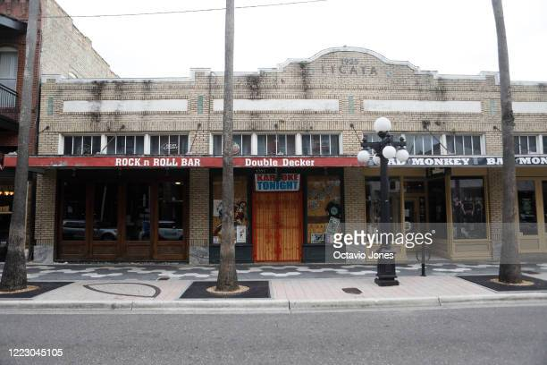 The Double Decker a popular karaoke bar is seen closed in the Ybor City neighborhood on June 26, 2020 in Tampa, Florida. Floridahassuspendedthe...
