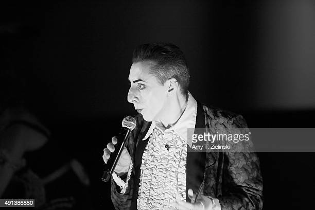 The Double R Club cabaret actor Benjamin Louche dressed as Ben in Blue Velvet during the sixth annual Twin Peaks UK Festival at Genesis Cinema on...