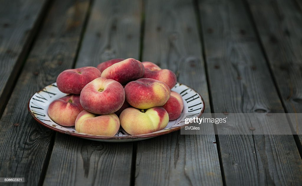 The doughnut peaches : Stock Photo