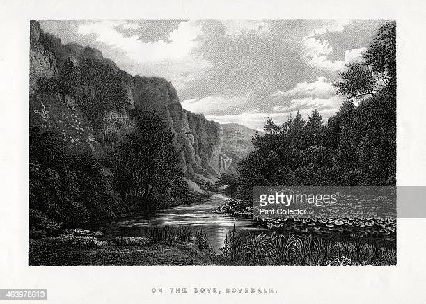 The Dove Dovedale Derbyshire 1896