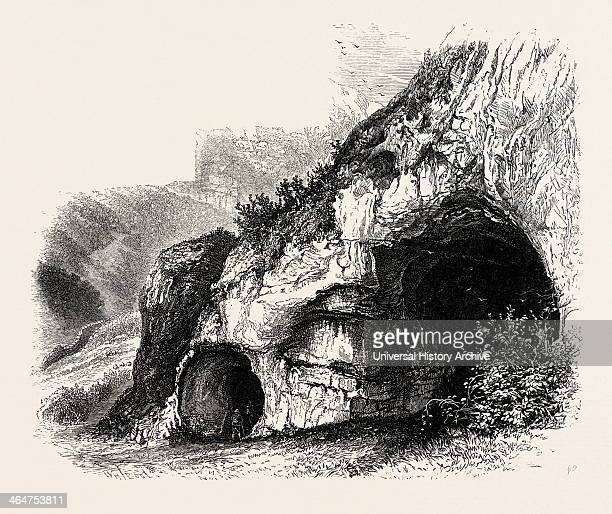 The Dove Holes Dove Dale The Dales Of Derbyshire Country UK Uk Britain British Europe United Kingdom Great Britain European 19th Century Engraving