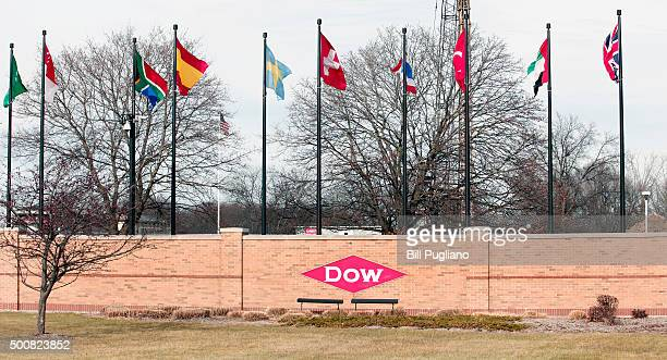 The Dow Chemical headquarters is shown December 10th, 2015 in Midland, Michigan. Recent news reports have indicated a possible merger between Dow and...