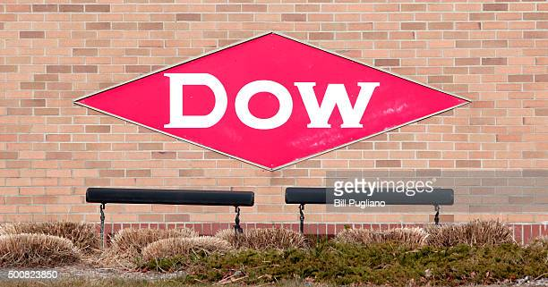 The Dow Chemical logo is shown on a wall at its corporate headquarters December 10th, 2015 in Midland, Michigan. Recent news reports have indicated a...