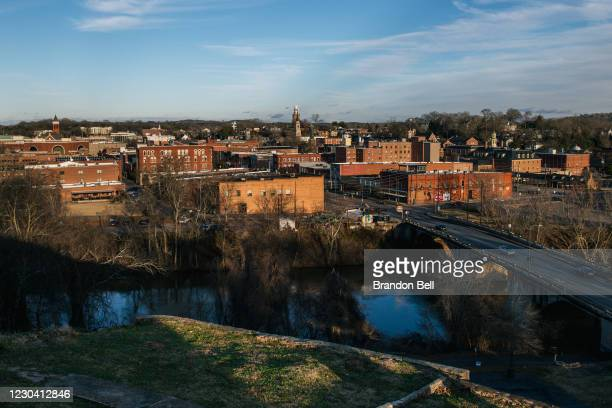 The downtown district is shown on January 3, 2021 in Rome, Georgia. In the lead-up to the January 5 run-off election, candidates continue to focus on...