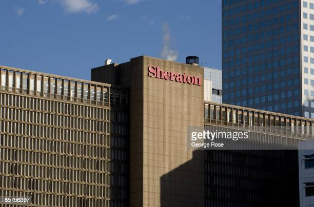The downtown Sheraton Hotel is seen in this 2009 Denver Colorado spring city landscape photo
