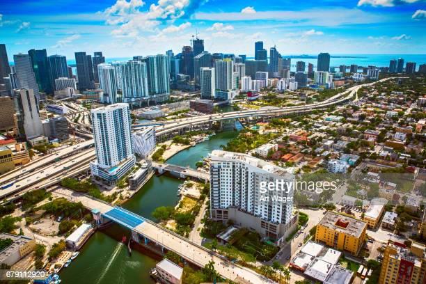 Dowtown Bereich Luftbild Miami Florida