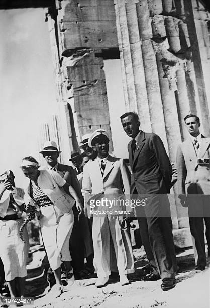 The Dr Goebbels Visiting The Acropolis At Athen In Greece Europe On 1939