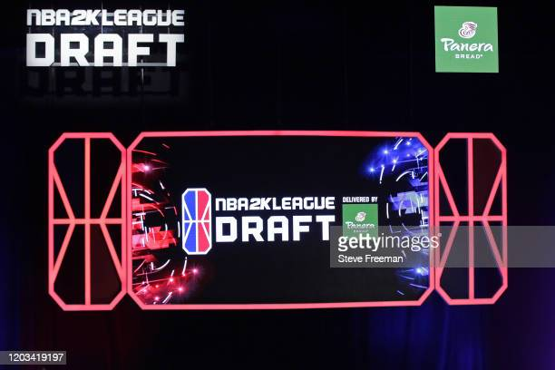 The draft board during the NBA 2K League Draft on February 22 2020 at Terminal 5 in New York New York NOTE TO USER User expressly acknowledges and...