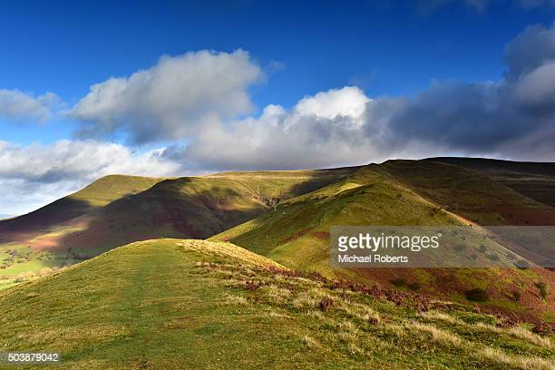 The Dragons Back, or y Grib, in the Black Mountains, Brecon Beacons national park, Wales