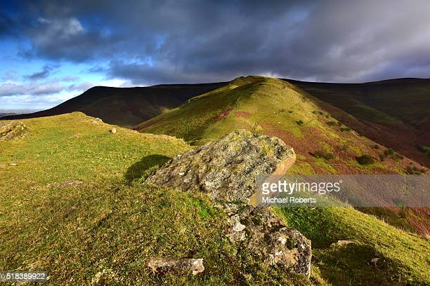 The Dragons Back, or y Grib, in the Black Mountains, Wales