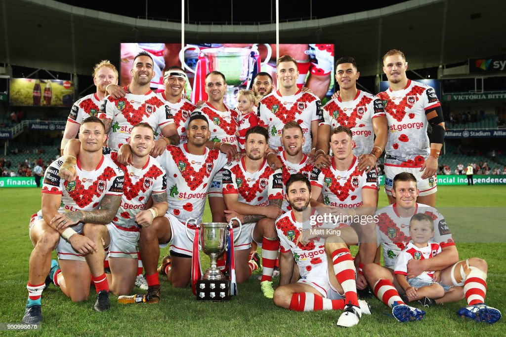 NRL Rd 8 - Dragons v Roosters : News Photo