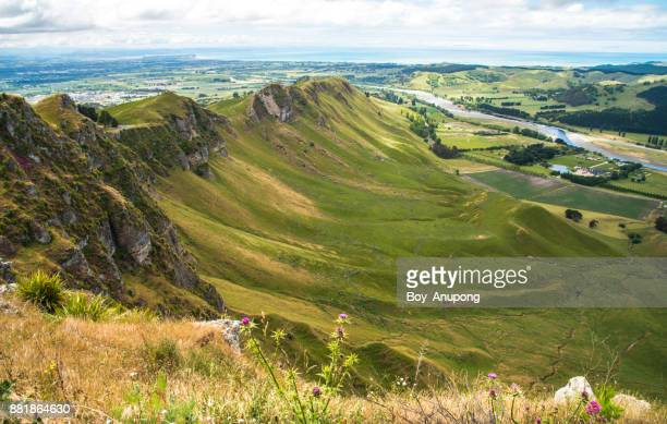 The dramatic landscape of Te Mata Peak in Hawke's Bay region of New Zealand.