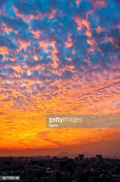 the dramatic sky at dusk - design elements stock photos and pictures