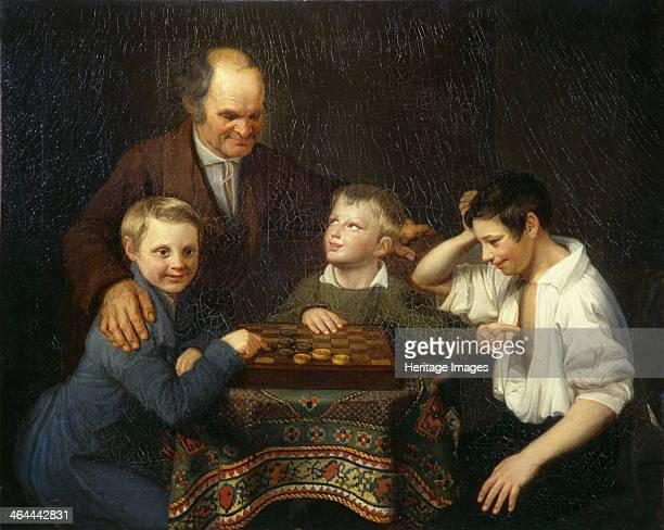 The Draughts Game 1824 Found in the collection of the State Russian Museum St Petersburg