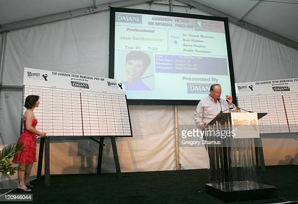The draw for the proam is unveiled during LPGA 2004 Wendy's Championship for Children Gordon Teter Memorial ProAm Draw Party in Dublin Ohio United...