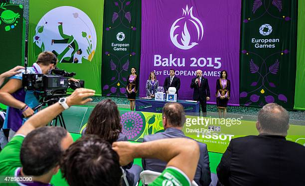 The draw for the teams competing the next day was managed by EJU Vice President Michal Vachun and carried out by Azerbaijan judo Olympic gold...