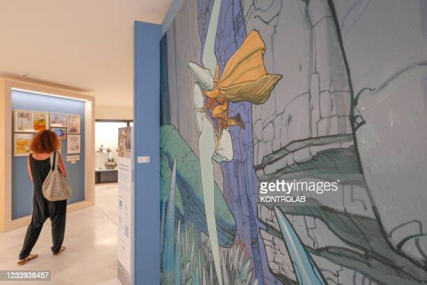 The drawings and comic strips of the famous french cartoonist Jan Giraud, who worked under the pseudonym Moebius, at an exhibition in the...