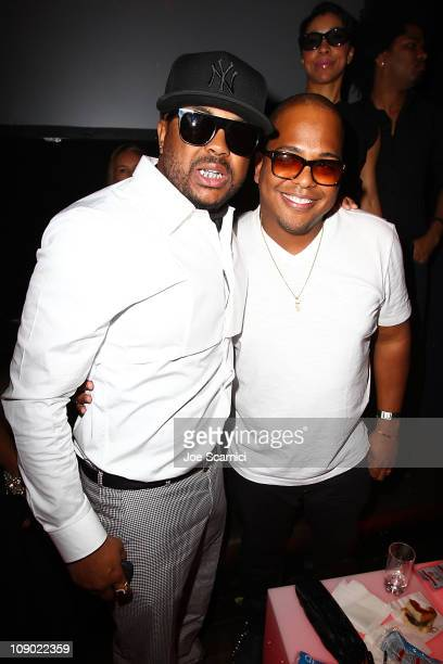 The Dream and Tricky Stewart attend the Tricky Stewart And RedZone Entertainment PreGRAMMY Party presented by rdiocom at The Playhouse on February 11...