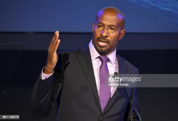 The Dream Corps President CoFounder and CNN Host Van Jones speaks onstage at the EMA IMPACT Summit at Montage Beverly Hills on May 21 2018 in Beverly...