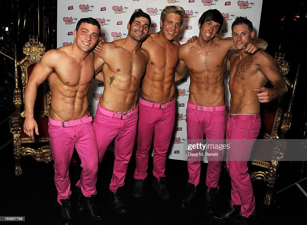 The Dream Idols pose at Wink Bingo's Gentle Woman's Night at Peter Stringfellow's Angels Club on March 18, 2013 in London, England.