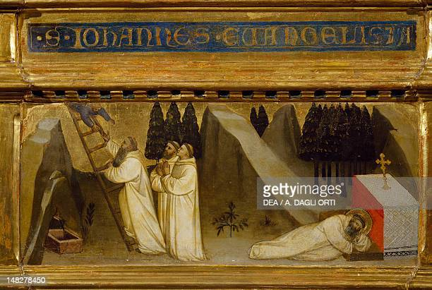 The dream of St Romuald right panel of the Trinity Saint Romuald and Saint John the Evangelist triptych by Nardo di Cione tempera on wood 300x212 cm...