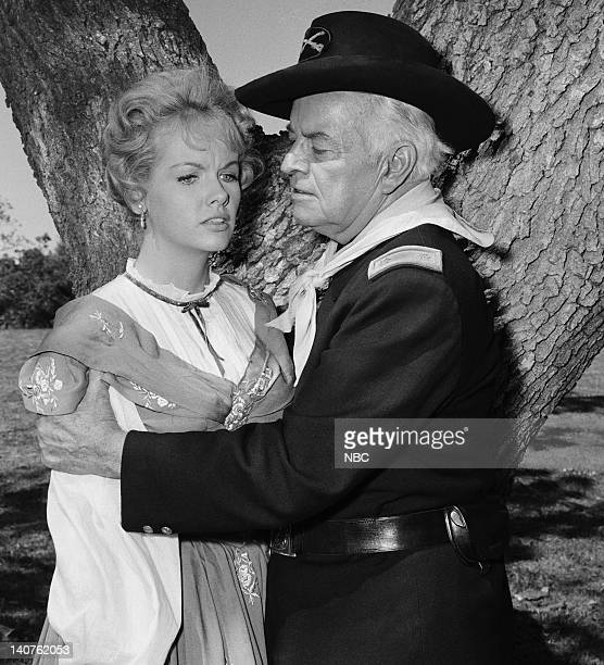 BONANZA The Dream Riders Episode 32 Pictured Diana Millay as Diana Cayley Sidney Blackmer as Major John F Cayley Photo by Herb Ball/NBC/NBCU Photo...