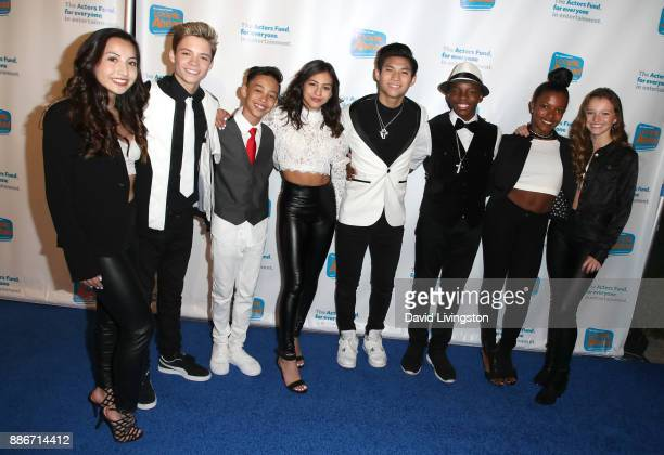 The Dream Talent Management Dancers attend The Actors Fund's 2017 Looking Ahead Awards honoring the youth cast of NBC's 'This Is Us' at Taglyan...